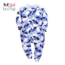 HHTU 2017 Newborn Infant Rompers Jumpsuit Cute Clothes Baby Boys Girls Fleece Baby Costumes Clothing for Autumn Winter(China)