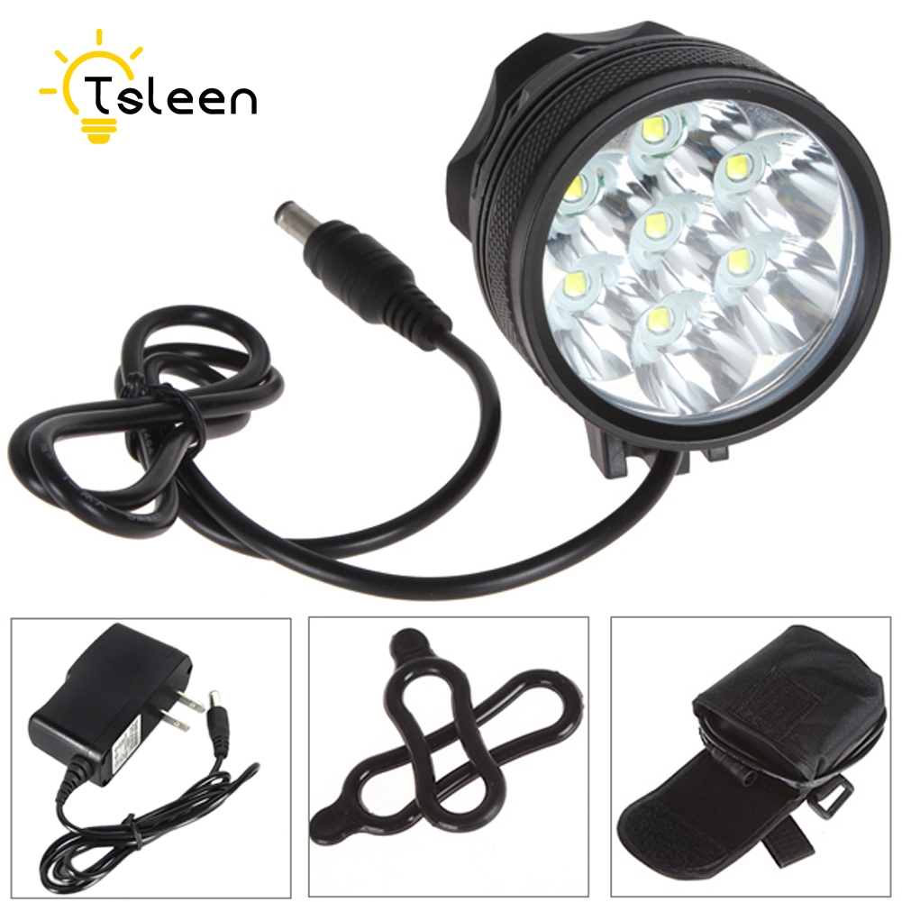 Cheap NEW 7*XM-L T6 LED Bicycle Light Outdoor Cycling Racing Rechargeable Head Torch 49% off bike light front<br>
