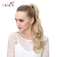 SARLA 10Pcs/Lot Long Wrap Around Clip-in Ponytails Natural Wave Hair Extension Resist High Temperature Synthetic Hairpieces P002