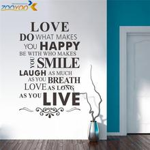 we are family wall art home decoration creative quote wall decals zooyoo8083 diy adesivo de parede removable vinyl wall stickers