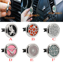 New Hot Sale Car Stainless Car Air Auto Vent Freshener Essential Oil Diffuser Gift Locket Decor Support US Overseas Warehouse