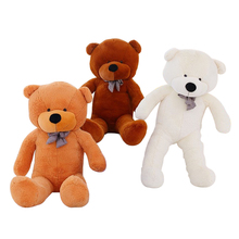 1pcs 120cm three colors big teddy bear skin coat plush toys stuffed toy baby toy birthday gifts Christmas gifts(China)