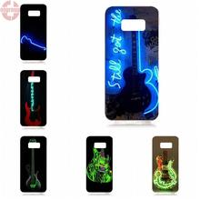 EJGROUP Soft TPU Silicon Cool Best Glowing Neon Guitar Outline For Samsung Galaxy S8 5.8 inch G950 G950F SM-G9500(China)