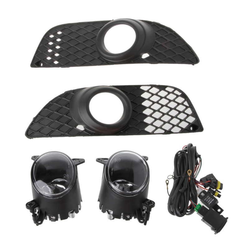 High Quality Bumper Grille 12V H11 Fog Lights Lamp + Wiring Switch Kit For Mitsubishi Lancer 08-14 New Drop shipping<br>
