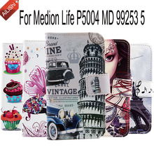 Hot Sale PU Cartoon Leather Case For Medion Life P5004 MD 99253 5 Optional Colorful Painted Cover Skin Book Style Flip In Stock