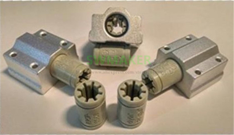 Funssor-7-PCs-Polymer-SC8UU-Bracket-8mm-Linear-Rail-Double-Igus-Drylin-RJ4JP-01-08-for