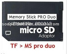 memory card adapter Micro SD to Memory Stick Pro Duo Adapter For PSP Sopport Class10 micro SD 2GB 4GB 8GB 16GB 32GB 5PCS/LOT(China)