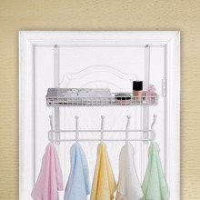 "Lifewit Two Tiers Over the Door Rack Hanger with 10 Hooks Fit for 1.41-2.2"" Door Organizer Rack for Coats Hats Robes Towels(China)"