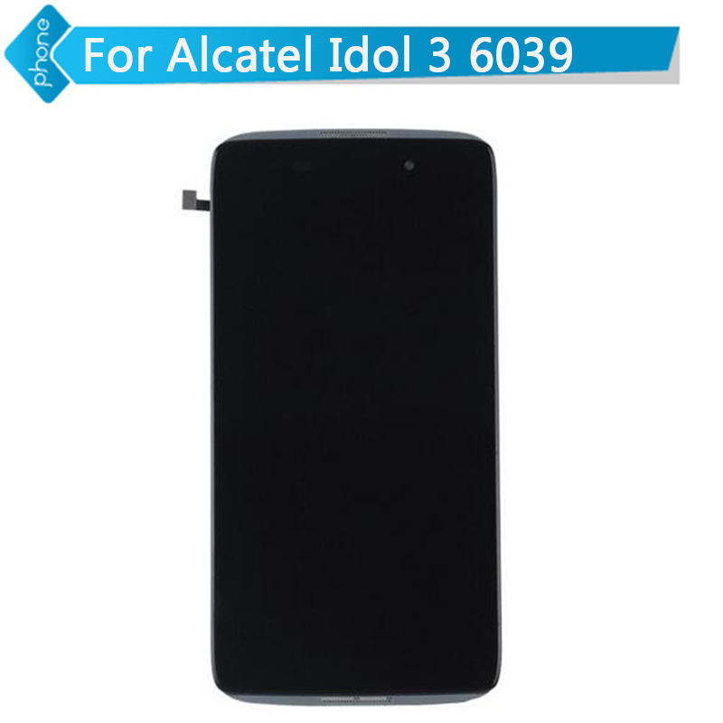 4.7 For Alcatel One Touch Idol 3 ot6039 LCD Display Touch Screen Digitizer Assembly with Frame black<br><br>Aliexpress