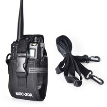 MSC-20A Holder Pouch Case For Portable Ham Radio Motorola Kenwood Walkie Talkie Two Way Radio BaoFeng uv-5r UV82 UV8D UV6 GT-3(China)