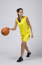women  basketball sets lady  breathable blank basketball jerseys female sports kits adult training uniforms women running suits