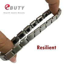 EBUTY Sport Bracelet Silver Germanium Energy Bracelets Stainless Steel Jewelry With Retail Package Box Best Gift for Lover 50pcs(China)
