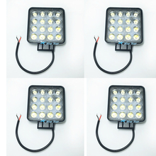 4pcs 4.2 Inch 48W LED Work Light for Indicators Motorcycle Driving Offroad Boat Car Tractor Truck 4x4 SUV ATV Flood Spot 12V 24V(China)