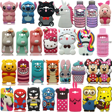3D Cartoon Cute Minnie Unicorn Cat Stitch Soft Silicone Cover Samsung Galaxy J1 J3 J5 J7 (2015/2016) Phone Case Fundas Coque
