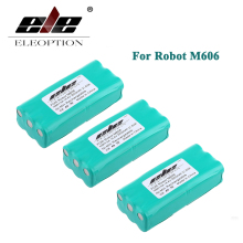 ELEOPTION 3PCS 14.4V 2000mAh 2.0Ah Ni-MH Replacement Vacuum Robot Battery For Dirt Devil Libero M606 0606004(China)