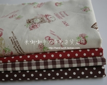 Retro Pastoral Courtyard Basket Strawberry Curtains Sofa Cushion Plaid Tables Linen Fabrics 145cmX50cm