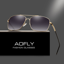 AOFLY Men's Polarized Sunglasses Fashion Brand Designer HD Polaroid Sun glasses for Men Coating Lens Double Bridge Goggle AF6107