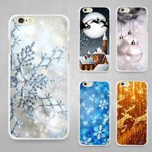 Merry Christmas Hard White Cell Phone Case Cover for Apple iPhone 4 4s 5 5C SE 5s 6 6s 7 8 Plus X(China)
