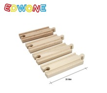 wooden Railway Pack 4pcs straight rail track fit Thomas and Brio Wooden Train Educational Boy/ Kids Toy Christmas Gift