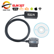 Super mini elm327 WiFi OBD-II Car Diagnostics Tool for Apple iPad iPhone iPod Touch wifi elm 327 Code Reader Automotive Scanner
