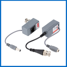 ABS Plastic CCTV Camera Video Balun Transceiver BNC UTP RJ45 Video and Power over CAT5/5E/6 Cable CCTV Accessories(China)