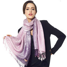 Jacquard scarves Wraps for Women 2016 Brand Cashew leopard Long Shawls 180*70cm Cotton Fringes Pashmina Winter Silk Scarf YG070(China)