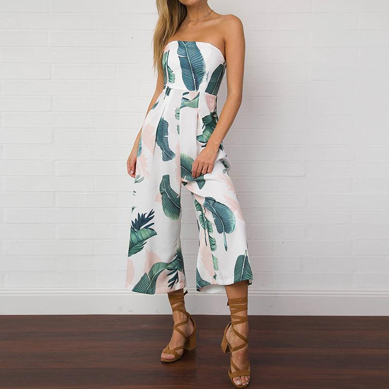 Causal Women Jumpsuits Off Shoulder Summer Bodysuit Combinaison Femme Beach Sexy Rompers Jumpsuits Pants WS390E 7