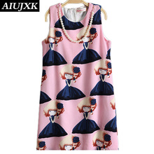Summer Girls Dresses Pink Sweet Patterns Fashion Girls Clothes High-grade Pearls Necklace Princess Dress Vincent44