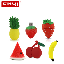 Cartoon Fruit USB Flash Drive Pineapple Strawberry Watermelon Pen Driver Memory Stick 4GB 8GB 16GB 32GB 64GB Pendrive U Disk(China)