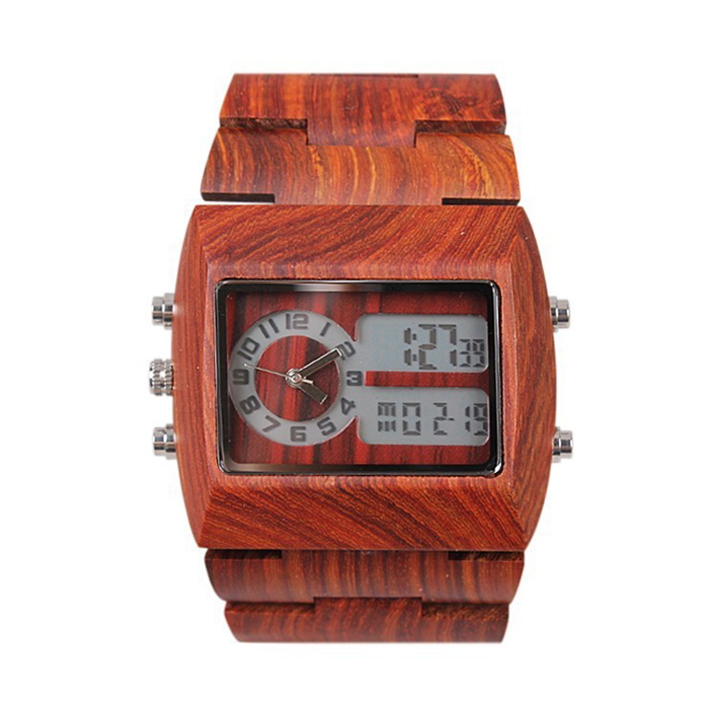 2016 Newest Mens Wooden Sport  Watch New Year Gift Bangle Quartz Watch With Calendar Display Role Men Relogio Masculino Watches<br>
