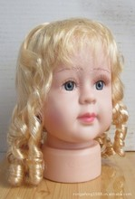 Blonde Long Hair Baby Girl Wig Mannequins Child Mannequin Stand Girls Head Hairdressing Heads Hairdress Children Manikin Display