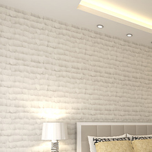 3D white non-woven fabric wallpaper modern feather brief  sofa tv background wall modern feature wall