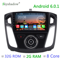 Faster!2G RAM+32G ROM+8core+9inch Android 6.0 Octa Core canbus Car DVD Radio GPS BT TV For ford focus 3 2011 2012 2013 2014 2015