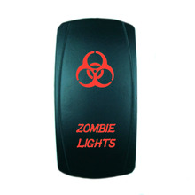 High Quality 5 Pin Laser Backlit Red Rocker Toggle Switch ZOMBIE LIGHTS 20A 12V On/off LED Light Wholesale [KG-010-2](China)