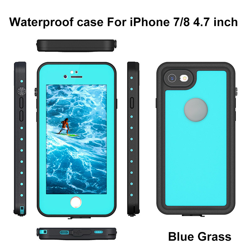 7.For iphone 7 8 plus waterproof case
