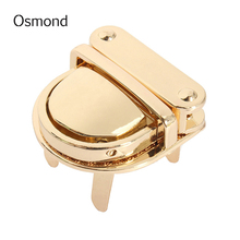 Metal DIY Bag Twist Lock Clasp Turn Lock For bag Snap Lock Purse Bag Accessories Part Handmade Closure Hasp Buckle without screw(China)