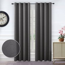 NICETOWN Triple Weave Microfiber Grommet Top Thermal Insulated Blackout Curtains / Drapes for Bedroom One Panel