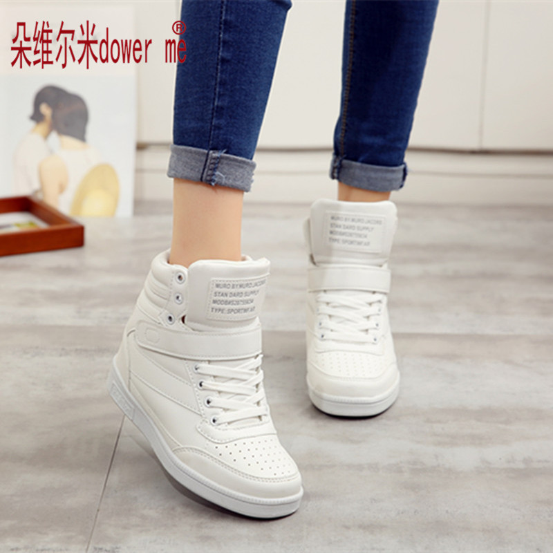 Fashion High Top Women casual shoes Platform Hidden Increasing Shoes Breathable Women pink white red Shoes<br><br>Aliexpress