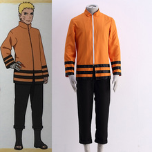 Man Cosplay Clothing Anime Naruto Cosplay The Last Shippuden Uzumaki Naruto Costume Orange Coat Three-Quarter Pant Suit For Man
