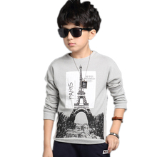 polo shirts long sleeve 2017 new fashion spring polo shirt kids Eiffel Tower printed toddler boy clothes boys cotton shirts(China)