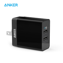 Anker 20W 2-Port USB US Plug Wall Charger with Foldable Plug and PowerIQ Technology for iPhone, iPad Samsung Nexus HTC Motorola(China)