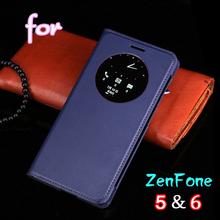 Smart View Auto Sleep Wake Function Leather Case Flip Cover Battery Housing Shell Holster For Asus ZenFone 5 For Asus ZenFone 6