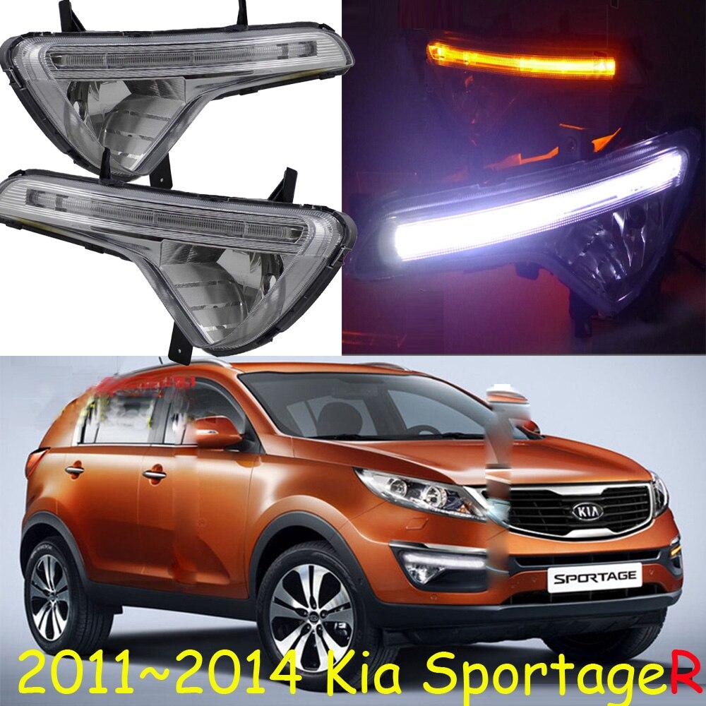 Car-styling,KlA SportageR daytime light,2011~2014,chrome,LED,Free ship!2pcs,KlA SportageR fog light,car-covers,sportage R<br>
