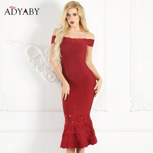 Buy Shoulder Dress Sexy Summer 2018 Fashion Ruffle Bodycon Party Midi Dress Red Pink Hollow Bandage Long Dresses Women for $60.99 in AliExpress store