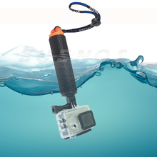 Floating Hand Grip Float bobber stick For Gopro hero 4 5 SJCAM SJ4000 handle pole accessory For Go pro Sport Action camera 10