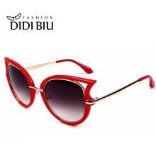 5ec430b1a3 DIDI Cat Eye Sexy Red Sunglasses Women Uv400 Driving Sun Glasses Military  Alloy Glasses Luxury Brand Cateye Eyewear Oculos W252