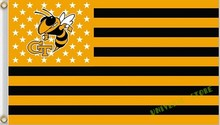 3X5FT NCAA Georgia Tech Yellow Jackets Nation Flag US stripes banner Free Shipping custom flag 100D Digital Print