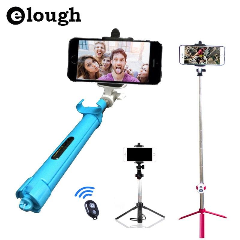 Elough New Foldable Tripod Monopod Selfie Stick Bluetooth With Button Pau De Palo Selfie Stick For Android iPhone Perche Selfies<br><br>Aliexpress