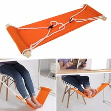 Personality Office Foot Rest Stand Desk Feet Hammock Easy to Disassemble Study Indoor Hardware furniture Home Office Decor(China)