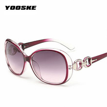 YOOSKE Fashion Vintage Round Female Sunglasses Women Brand Designer Feminine Sun Glasses Women's Pixel Glasses